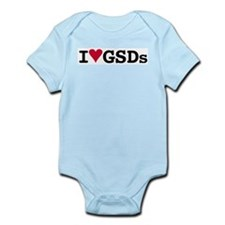 I Love GSDs Infant Bodysuit