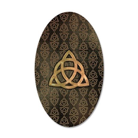 Triquetra - Nexus S phone ca 35x21 Oval Wall Decal