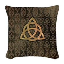 Triquetra Woven Throw Pillow