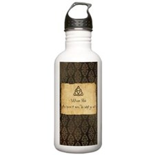 Wiccan Rede Triquetra Sports Water Bottle