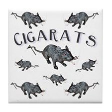 Cigarats Tile Coaster