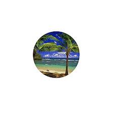 Tropical beach Mini Button