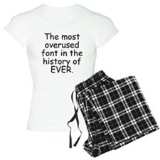 Comic Sans pajamas
