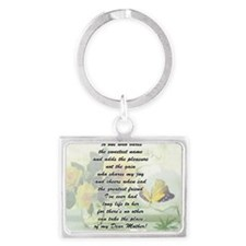 Beautiful roses, butterflies, a Landscape Keychain