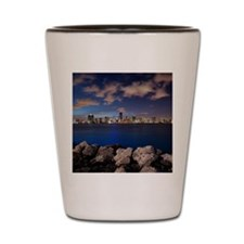 Miami Night Skyline Shot Glass