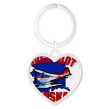 bush pilot Heart Keychain