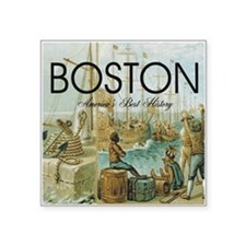 "boston2b Square Sticker 3"" x 3"""