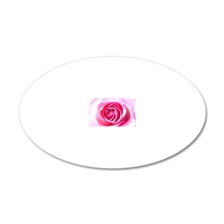 Pink Rose 20x12 Oval Wall Decal