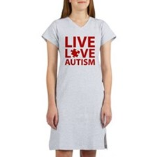 liveLoveAutism3C Women's Nightshirt