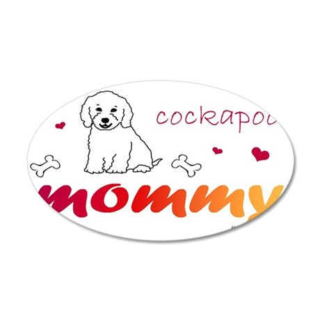cockapoo 35x21 Oval Wall Decal