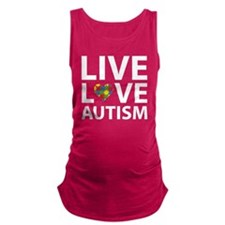 liveLoveAutism2B Maternity Tank Top