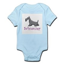 Dog Infant Creeper: Schnauzer