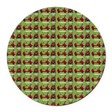 Hole in One Little Red Golf Carts Round Car Magnet