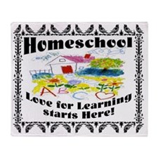 Homeschool Learning Throw Blanket