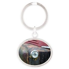 Rusty car Oval Keychain