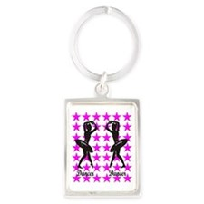 DANCER Portrait Keychain