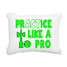 neon gr Practice Like a  Rectangular Canvas Pillow