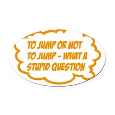 jump Oval Car Magnet