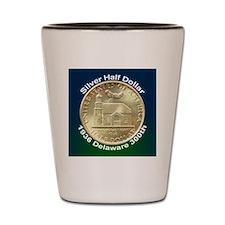 Delaware Tercentenary Half Dollar Coin Shot Glass
