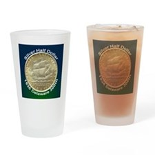 Delaware Tercentenary Half Dollar C Drinking Glass