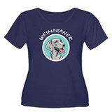 weimaraner circle portrait Women's Plus Size Scoop