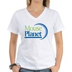 MousePlanet Women's V-Neck T-Shirt