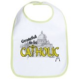 Grateful to be Catholic (Gold) Bib
