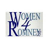 Women For Romney Rectangle Magnet
