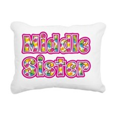 Middle Sister Pink Rectangular Canvas Pillow