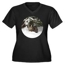 Ziggy Women's Plus Size Dark V-Neck T-Shirt