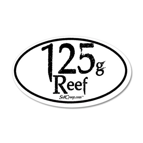 125g Reef 35x21 Oval Wall Decal
