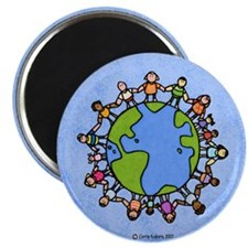 "One world, one people 2.25"" Magnet (10 pack)"