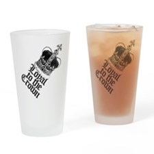 Loyal to the British Crown Drinking Glass