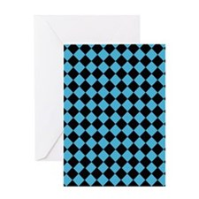 Black Diamonds Greeting Card