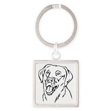 Labrador Square Keychain