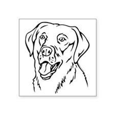 "Labrador Square Sticker 3"" x 3"""