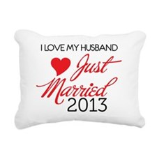I love My husband 2013 Rectangular Canvas Pillow