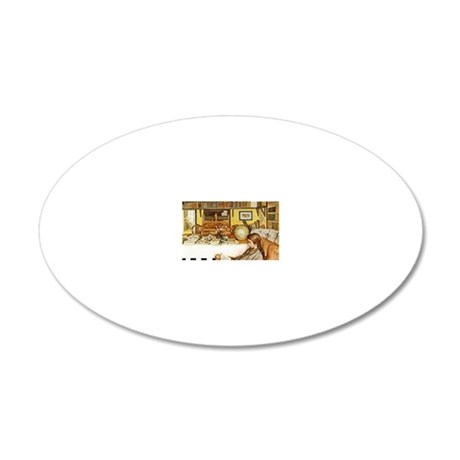 The Reading Room 20x12 Oval Wall Decal