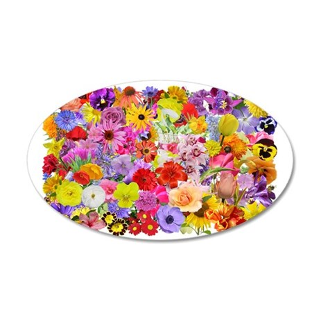 Eileens Multifloral long 35x21 Oval Wall Decal