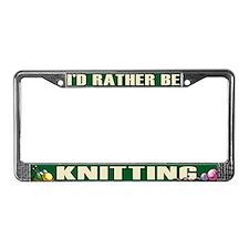 Knitting License Plate Frame