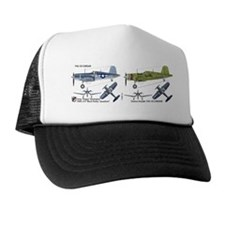 F4U Corsair Pappy Boyington Black Shee Trucker Hat