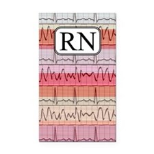 RN case reds Rectangle Car Magnet