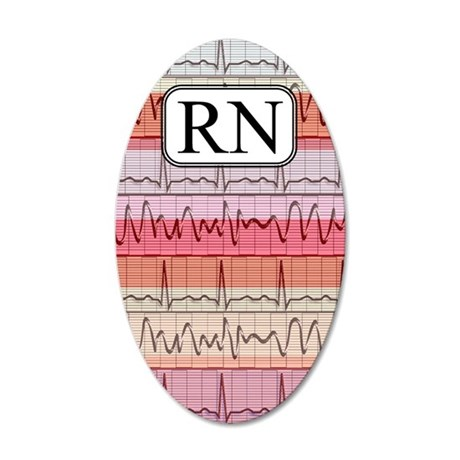 RN case reds 35x21 Oval Wall Decal