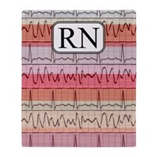 RN case reds Throw Blanket