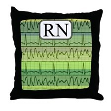 RN case green Throw Pillow