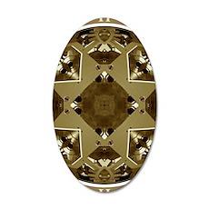 Clockwork Bronze 35x21 Oval Wall Decal