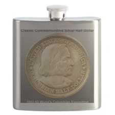 Worlds Columbian Exposition Half Dollar Coin Flask
