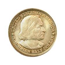 "Worlds Columbian Exposition Half Dolla 3.5"" Button"