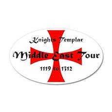 Knights Templar world Tour 20x12 Oval Wall Decal