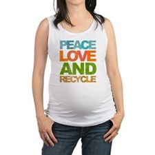 Peace Love and Recycle Maternity Tank Top